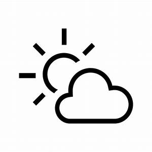 partly sunny outline icon | iconshow