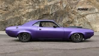Purple 1970 Dodge Challenger Muscle Car
