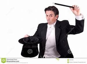 Magician Holding A Magic Wand Stock Photos - Image: 3481033