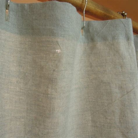 linen shower curtains in white and