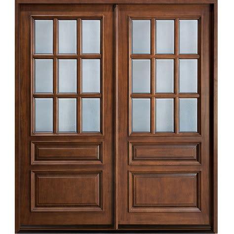Wooden Glass Double Door Hpd477   Glass Panel Doors   Al