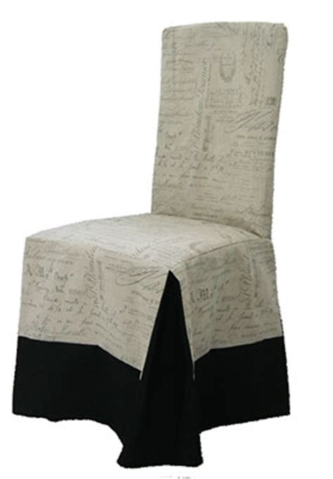 Script Chair Slipcovers by Chair Slipcover Style Classic Fabric Ecrire Script Print