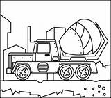 Coloring Mixer Concrete Cement Related Sketch Template Apps Printables Coloritbynumbers Vehicles sketch template