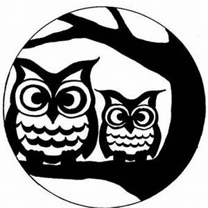 Full Moon And Owl Stencil / Halloween Time Juxtapost ...