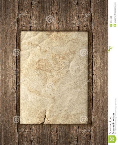 paper sheet  rustic wooden background royalty