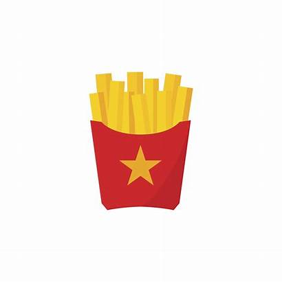 Fries French Vector Illustration Cartoon Fried Vecteezy