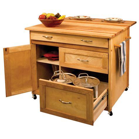 portable kitchen island with drop leaf drawer hardwood kitchen island ebay