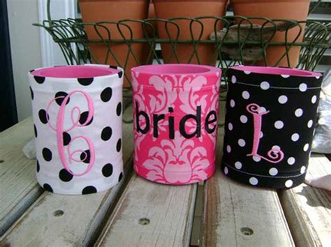 personalized koozies  wedding favors wedding themes