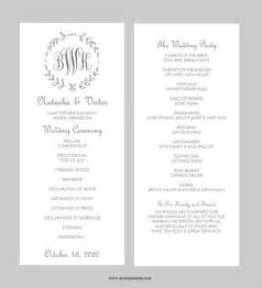 wedding program templates best 25 wedding program templates ideas on fan wedding programs program template