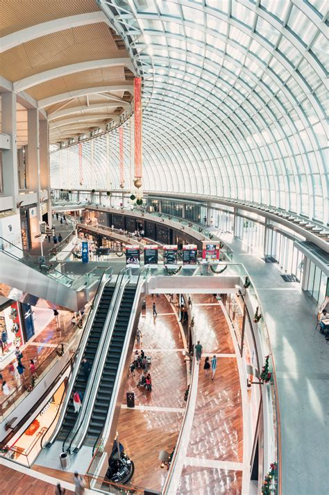 stock photo  escalator mall people