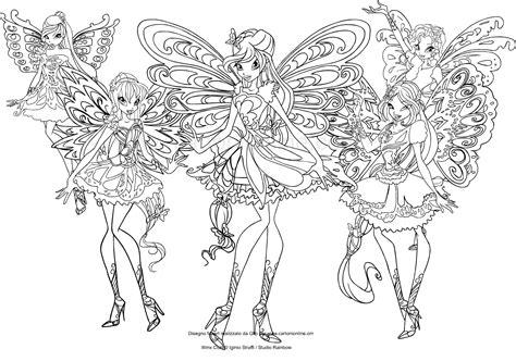 disegni da colorare winx disegno delle winx club butterflix da colorare