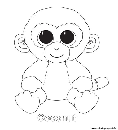 print coconut beanie boo coloring pages beanie boo