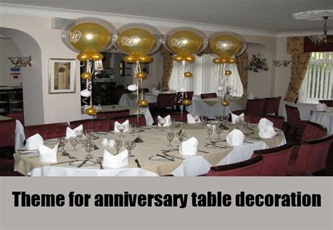 50th anniversary table decor photograph 50th anniversary t