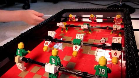 Lego Foosball Game Soccer Table - First MOC - YouTube