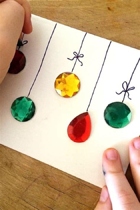 einfache weihnachtskarte mit kindern basteln dekoking diy bastelideen dekoideen zeichnen