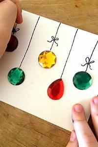 Basteln Weihnachten Grundschule : einfache weihnachtskarte mit kindern basteln dekoking diy bastelideen dekoideen zeichnen ~ Eleganceandgraceweddings.com Haus und Dekorationen