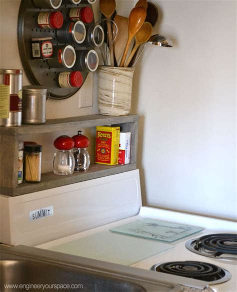 extra storage   small kitchen diy shelf