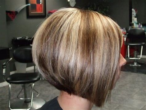 Side View Of Graduated Bob Haircut With Highlights