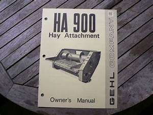 Gehl Ha900 Hay Attachment Owners Operators Manual Guide