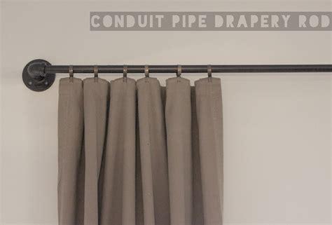 pipe curtain rod ador conduit pipe drapery rod