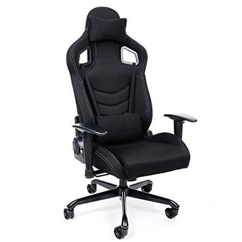 support lombaire bureau songmics chaise fauteuil siège de bureau racing sport avec