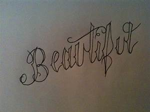 Beautiful Cursive by RhinoGreymist on DeviantArt