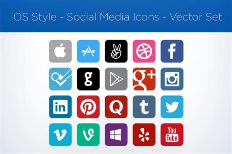 Social Media Icons Vector For Sale Social Media Icons Vector Set Garrett Gee