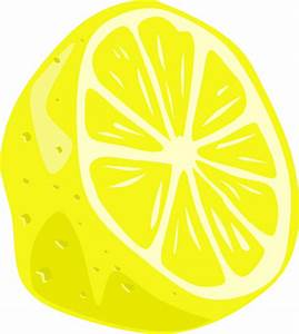 Lemon (half) Clip Art at Clker.com - vector clip art ...