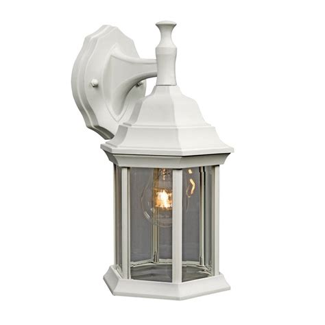 galaxy 11 5 in h white outdoor wall light at lowes com