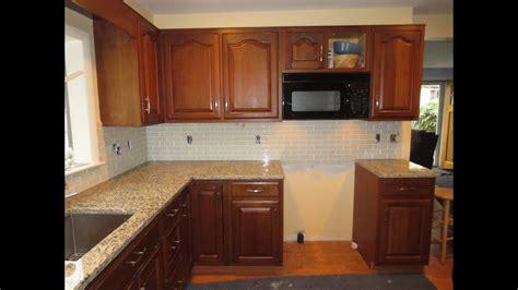 install  glass tile kitchen backsplash part  youtube