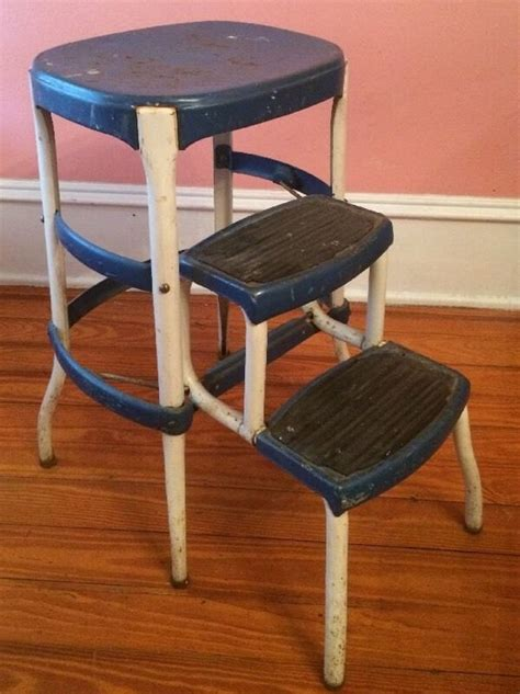cosco chair step stool cosco metal blue step stool chair ladder by antiquesviaayala