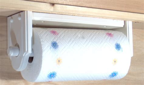 under cabinet towel holder paper towel holder wall or under cabinet wood white made in