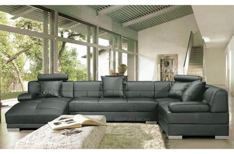 canap 233 d angle en cuir italien 8 places napoli gris fonc 233 mobilier priv 233
