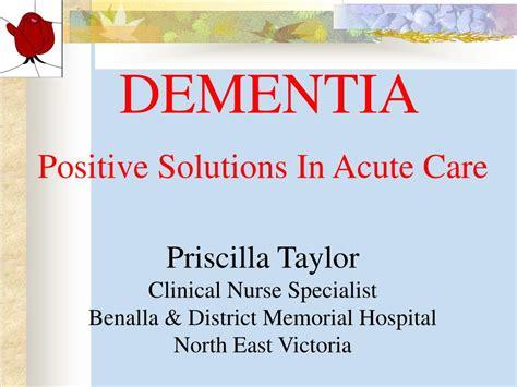 Ppt Dementia Powerpoint Presentation Free Download Id