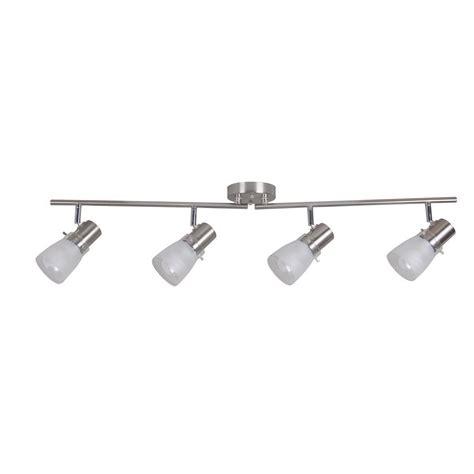 track lighting kits portfolio 4 light stainless steel fixed track light kit