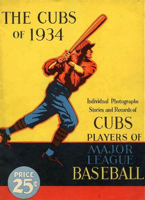chicago cubs print vintage baseball poster retro