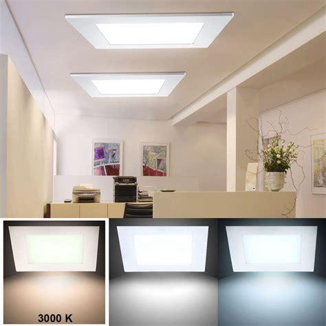 Led Deckenlen Wohnzimmer by 24 Watt Led Panel Decken Einbau Leuchte Wohnzimmer Raster