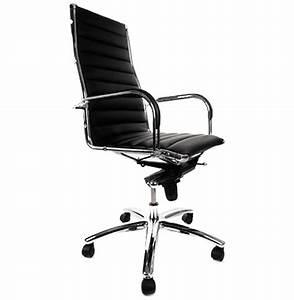 Fauteuil Cuir Bureau : fauteuil de bureau design milan en simili cuir noir ~ Teatrodelosmanantiales.com Idées de Décoration