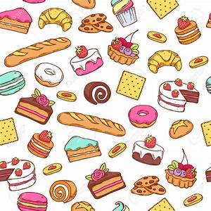 Biscuit clipart sweet food - Pencil and in color biscuit ...