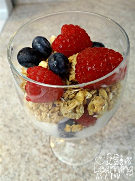 granola fruit parfait recipe a dessert snack or breakfast learning as a family