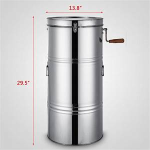 China Two Frame Stainless Steel Manual Honey Extractor