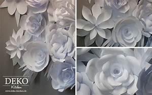 Ausgefallene Hochzeitsdeko Ideen : diy romantische papierbl ten wand deko selber machen deko kitchen ~ Frokenaadalensverden.com Haus und Dekorationen