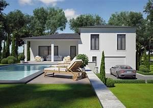 modele villa contemporaine 100m2 demi etage agate azur With charming idee decoration jardin exterieur 0 sculpture contemporaine et autres idees de deco du jardin