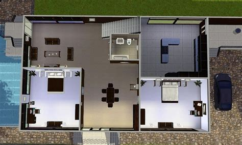 sims 3 modern house floor plans home design and style