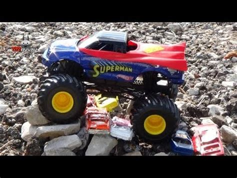 superman monster truck videos wheels monster jam superman truck review youtube