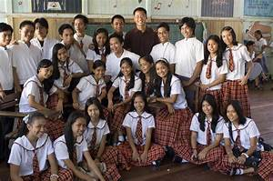 File:An Education Volunteer with his high school students ...