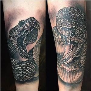 Realistic Snakes in Black and Gray by Yarda : Tattoos