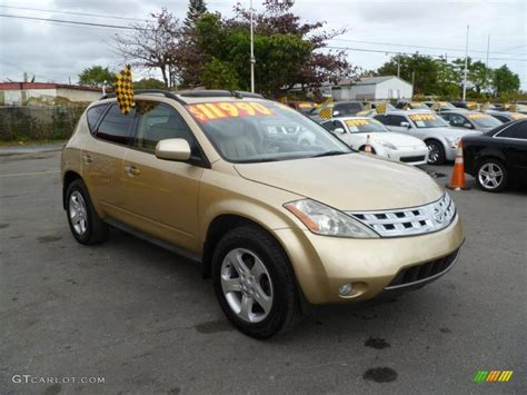 gold nissan car 2003 luminous gold metallic nissan murano sl 41701186