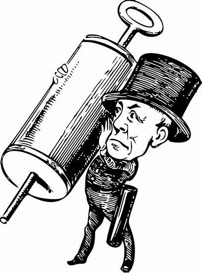 Syringe Comic Vector Clipart Cartoon Drawing Hospital