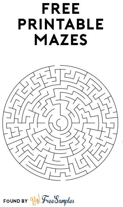 printable maze booklets yo  samples